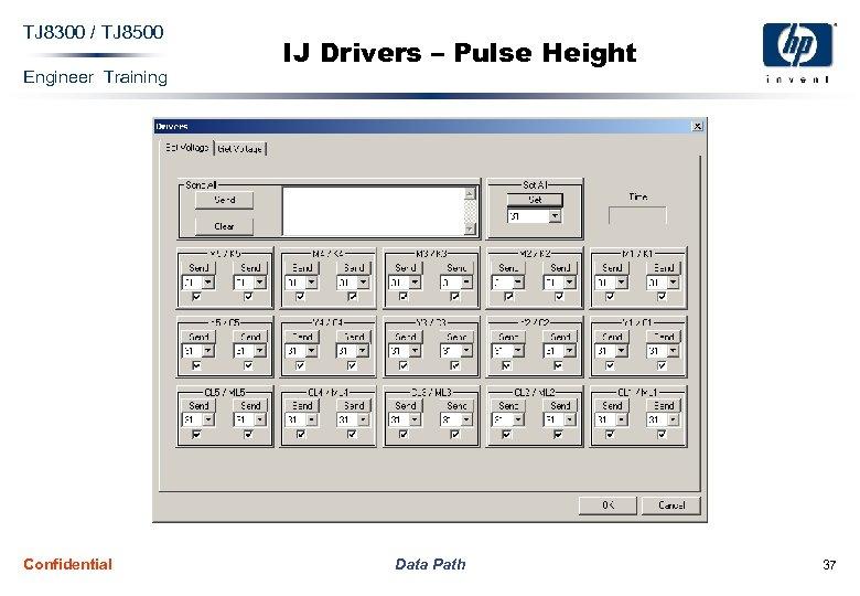 TJ 8300 / TJ 8500 Engineer Training Confidential IJ Drivers – Pulse Height Data