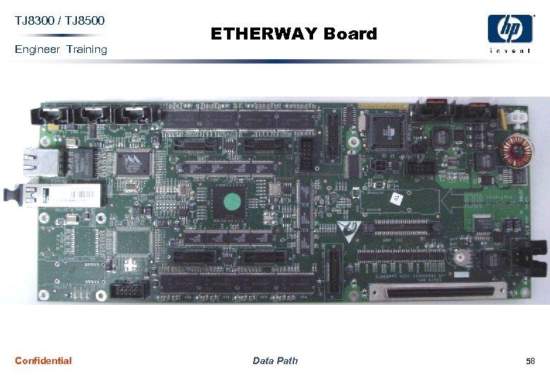 TJ 8300 / TJ 8500 Engineer Training Confidential ETHERWAY Board Data Path 58