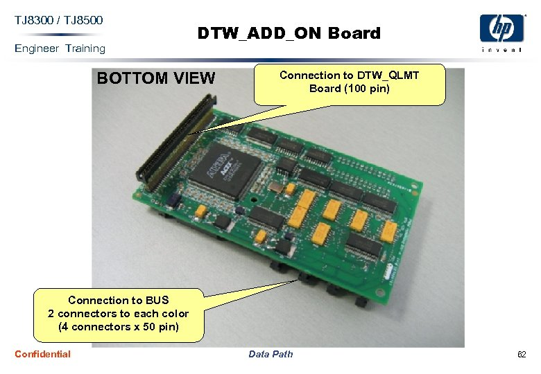 TJ 8300 / TJ 8500 Engineer Training DTW_ADD_ON Board BOTTOM VIEW Connection to DTW_QLMT