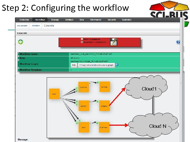 Step 2: Configuring the workflow Cloud 1 Cloud N
