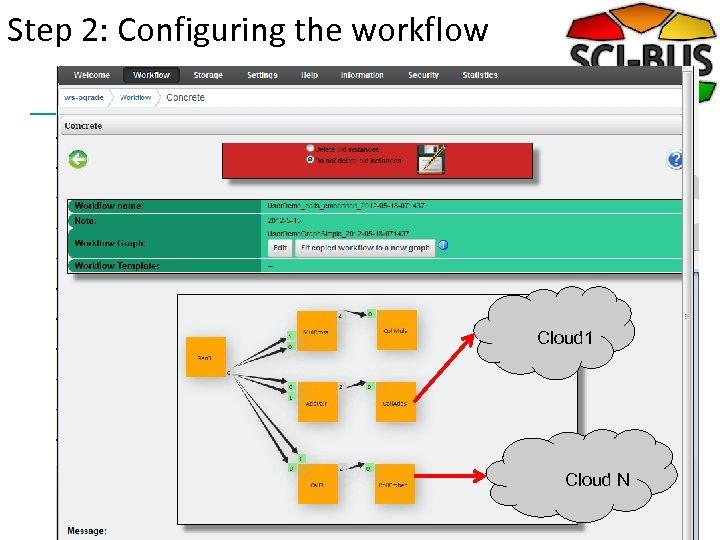 Step 2: Configuring the workflow Cloud 1 Cloud N