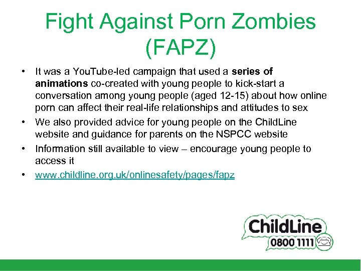 Fight Against Porn Zombies (FAPZ) • It was a You. Tube-led campaign that used