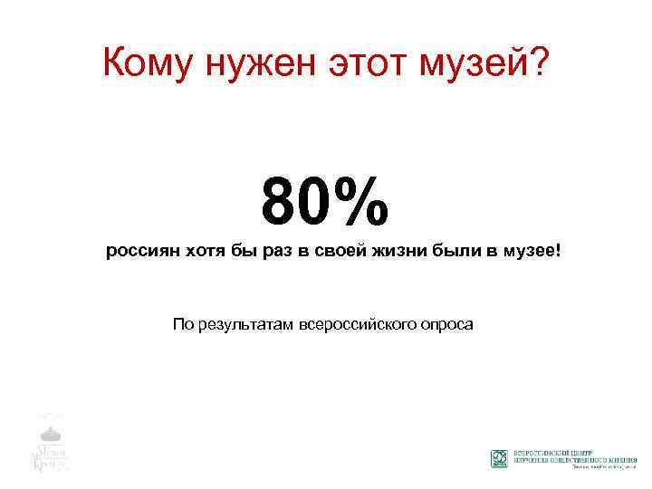 Кому нужен этот музей? 80% россиян хотя бы раз в своей жизни были в