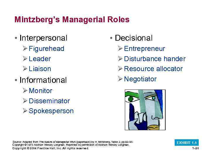 Mintzberg's Managerial Roles • Interpersonal Ø Figurehead Ø Leader Ø Liaison • Informational •