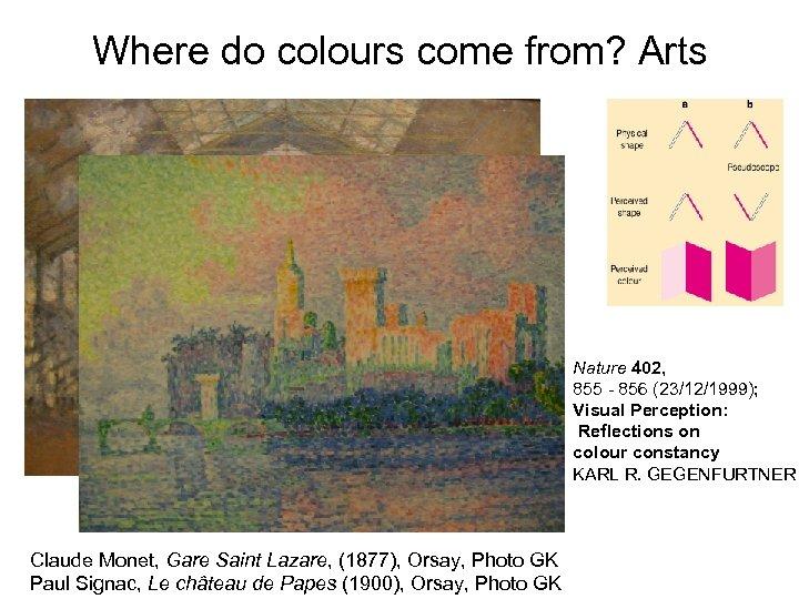Where do colours come from? Arts Nature 402, 855 - 856 (23/12/1999); Visual Perception: