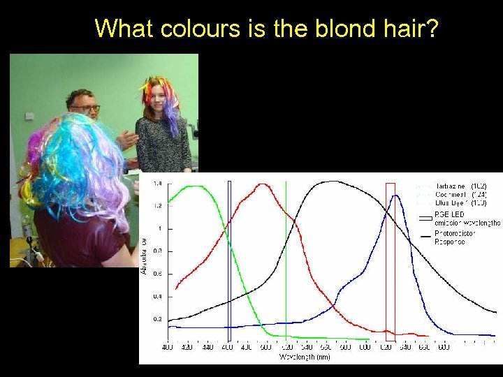 What colours is the blond hair?
