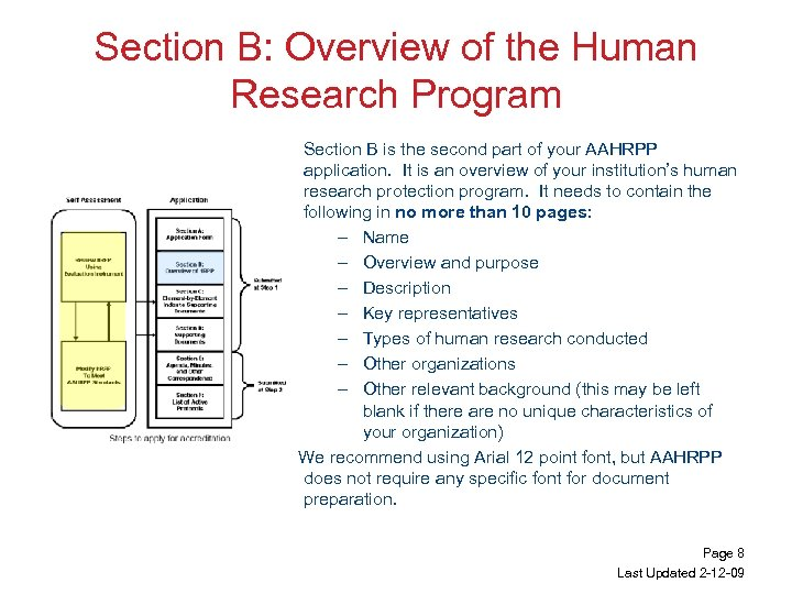 Section B: Overview of the Human Research Program Section B is the second part