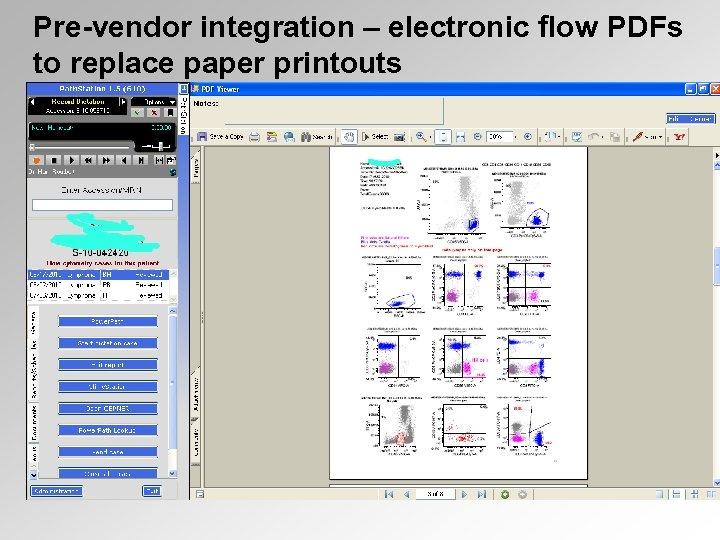 Pre-vendor integration – electronic flow PDFs to replace paper printouts