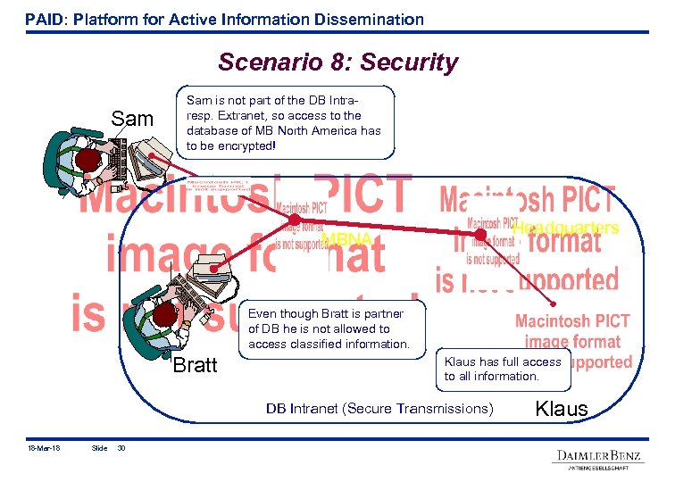 PAID: Platform for Active Information Dissemination Scenario 8: Security Sam is not part of