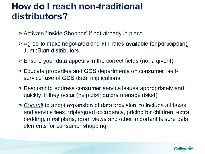 """How do I reach non-traditional distributors? > Activate """"Inside Shopper"""" if not already in"""
