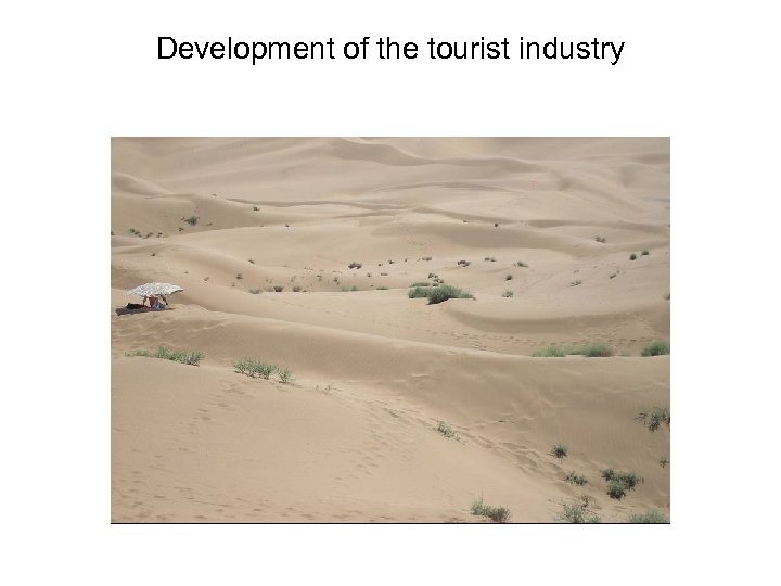 Development of the tourist industry