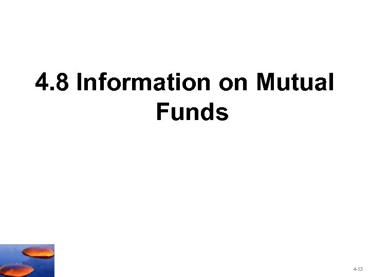 4. 8 Information on Mutual Funds 4 -53