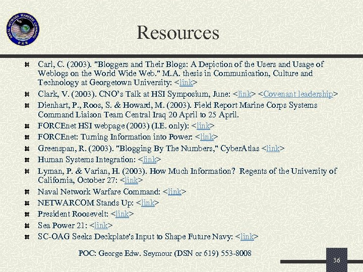 Resources Carl, C. (2003).