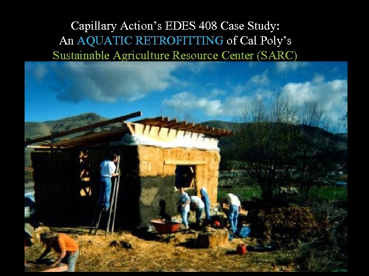 Capillary Action's EDES 408 Case Study: An AQUATIC RETROFITTING of Cal Poly's Sustainable Agriculture