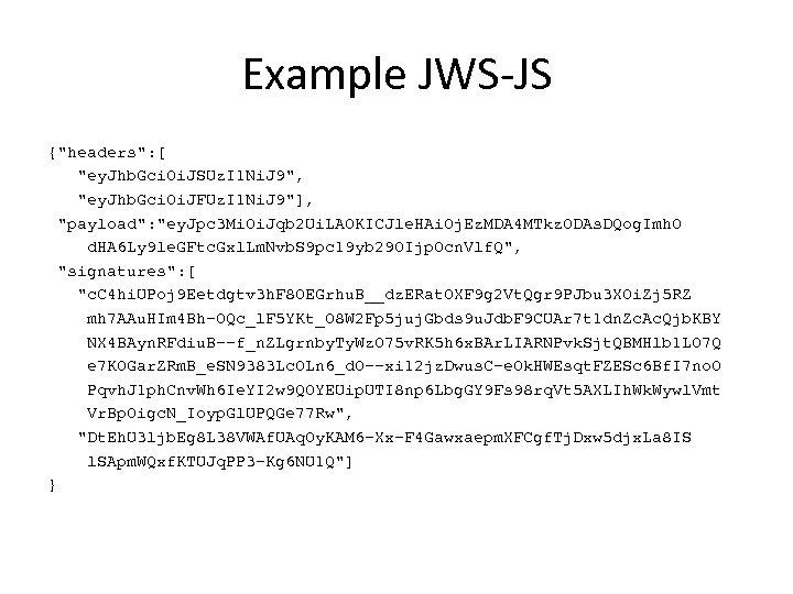 Example JWS-JS {