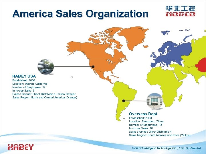 America Sales Organization HABEY USA Established: 2008 Location: Walnut, California Number of Employees: 12