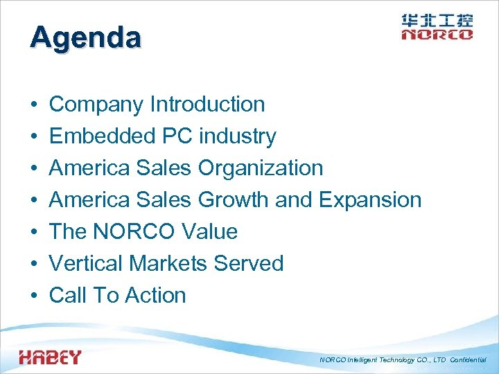 Agenda • • Company Introduction Embedded PC industry America Sales Organization America Sales Growth