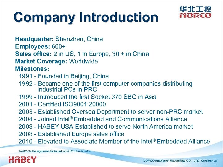 Company Introduction Headquarter: Shenzhen, China Employees: 600+ Sales office: 2 in US, 1 in