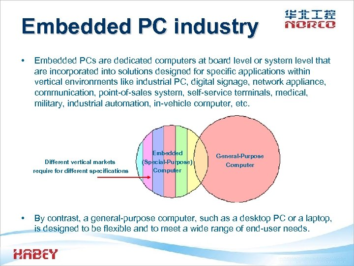 Embedded PC industry • Embedded PCs are dedicated computers at board level or system
