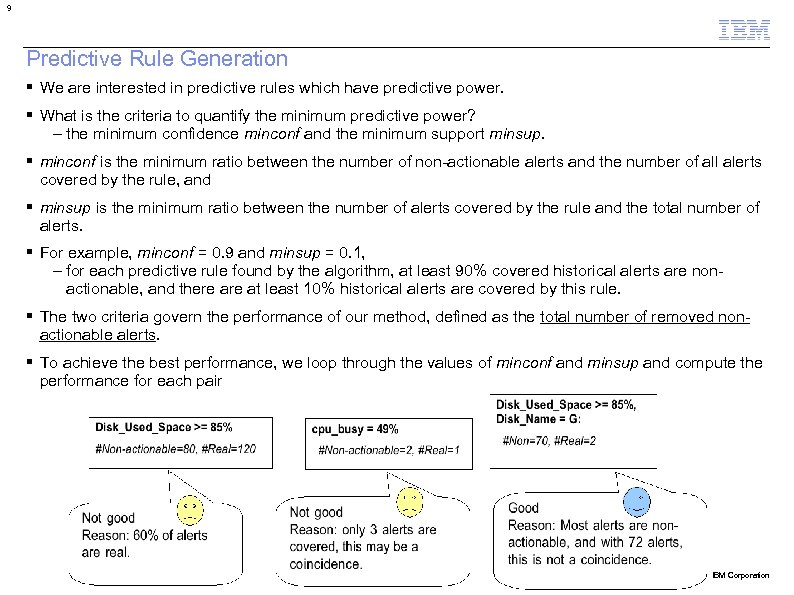 9 Predictive Rule Generation We are interested in predictive rules which have predictive power.
