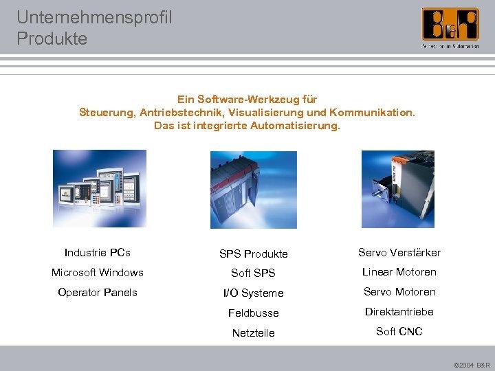Unternehmensprofil Produkte Ein Software-Werkzeug für Steuerung, Antriebstechnik, Visualisierung und Kommunikation. Das ist integrierte Automatisierung.