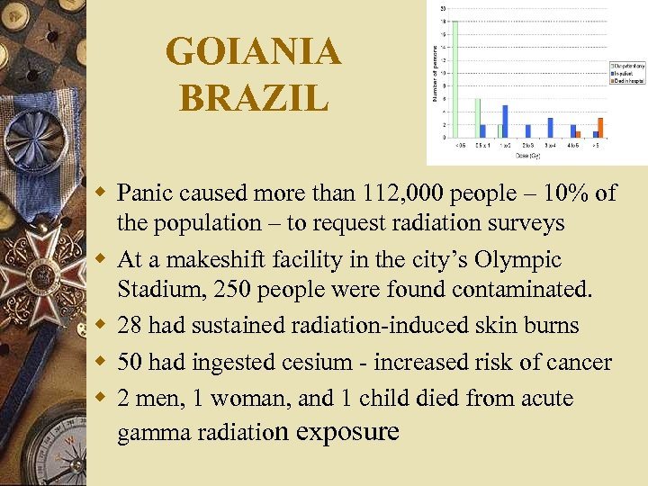 GOIANIA BRAZIL w Panic caused more than 112, 000 people – 10% of the