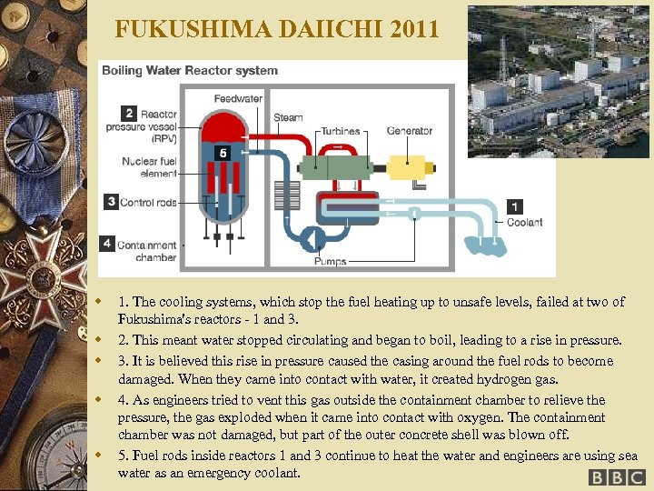 FUKUSHIMA DAIICHI 2011 w w w 1. The cooling systems, which stop the fuel