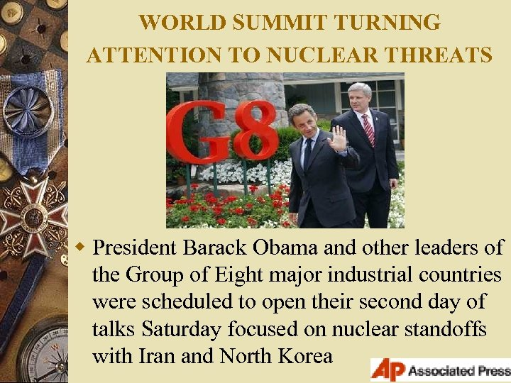 WORLD SUMMIT TURNING ATTENTION TO NUCLEAR THREATS w President Barack Obama and other leaders