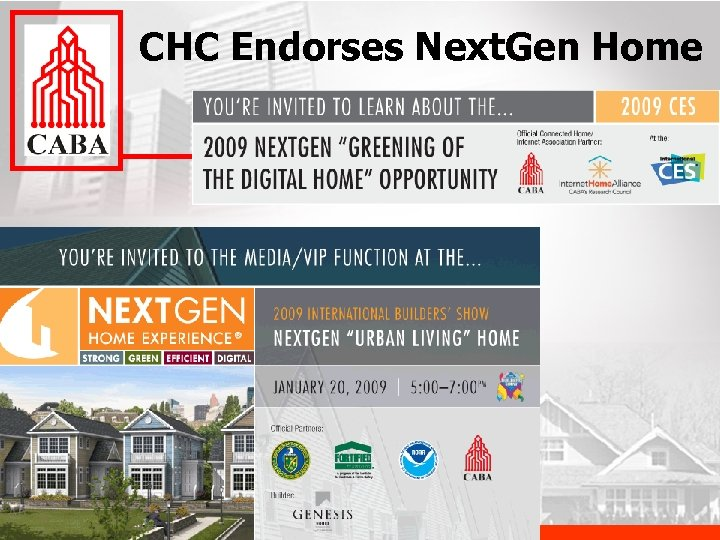 CHC Endorses Next. Gen Home