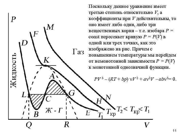 Поскольку данное уравнение имеет третью степень относительно V, а коэффициенты при V действительны, то