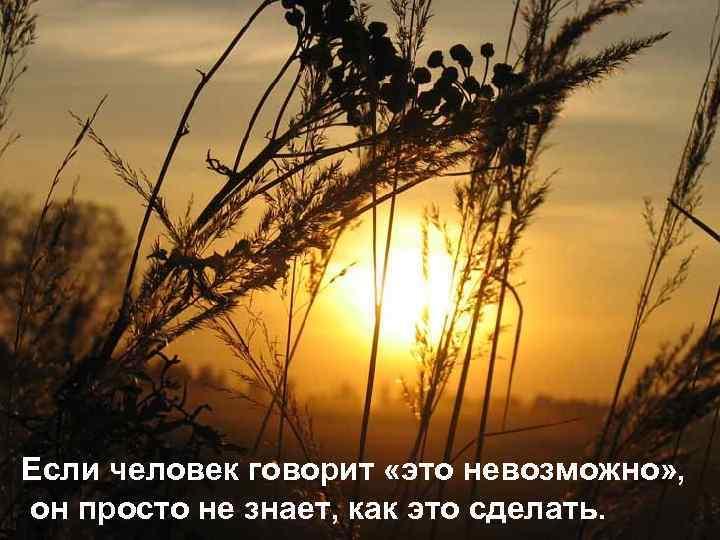 Если человек говорит «это невозможно» , он просто не знает, как это сделать.