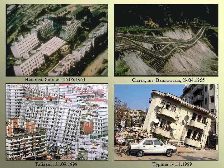 Ниагата, Япония, 16. 06. 1964 Тайвань, 21. 09. 1999 Сиэтл, шт. Вашингтон, 29. 04.