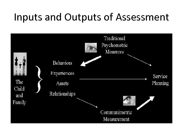 Inputs and Outputs of Assessment