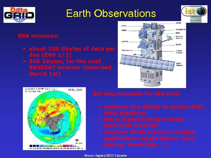 Earth Observations ESA missions: • about 100 Gbytes of data per day (ERS 1/2)