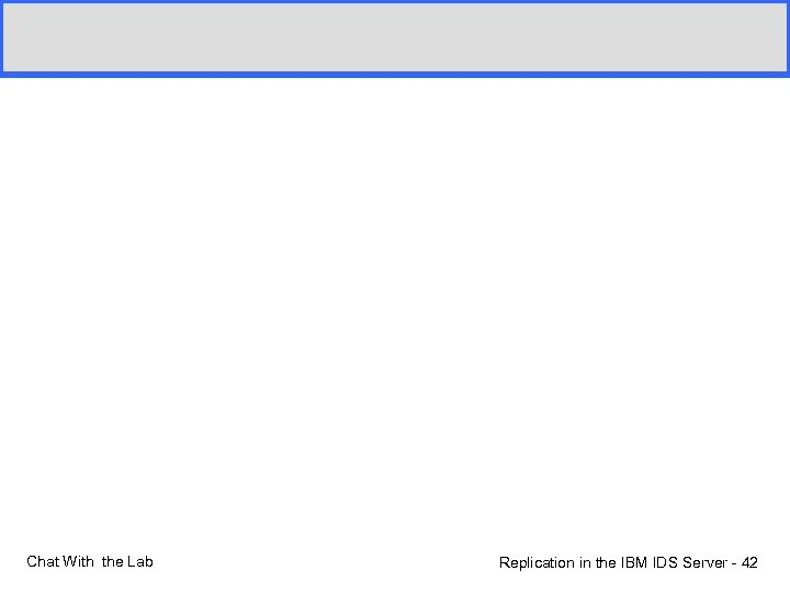 Chat With the Lab Replication in the IBM IDS Server - 42