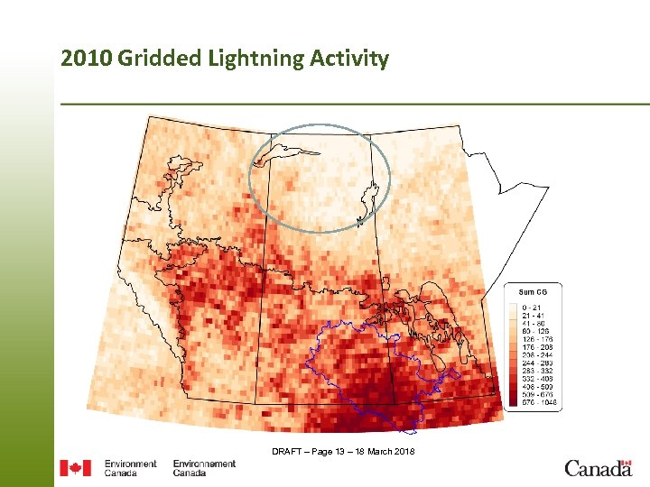 2010 Gridded Lightning Activity DRAFT – Page 13 – 18 March 2018