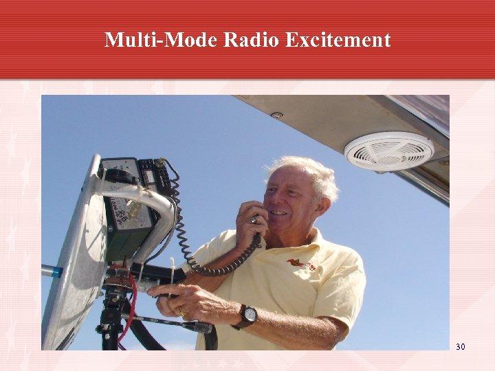 Multi-Mode Radio Excitement 30