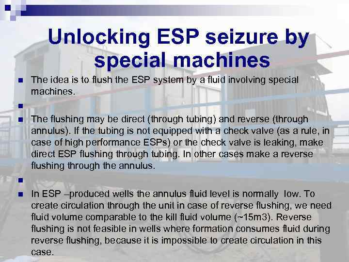 Unlocking ESP seizure by special machines The idea is to flush the ESP system