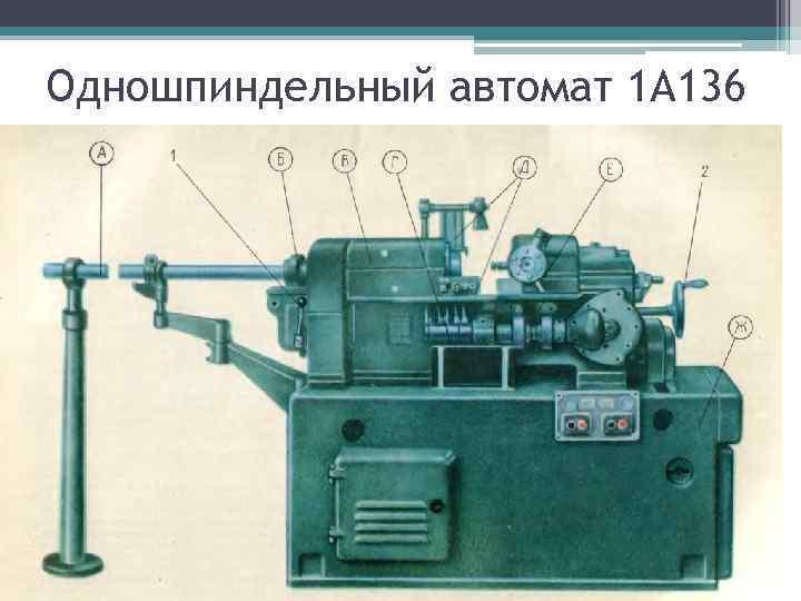 Одношпиндельный автомат 1 А 136