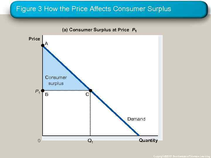 Figure 3 How the Price Affects Consumer Surplus (a) Consumer Surplus at Price P