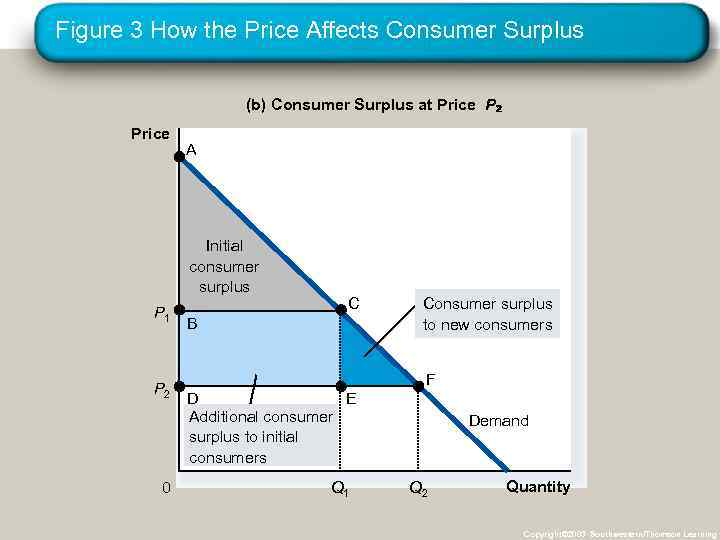 Figure 3 How the Price Affects Consumer Surplus (b) Consumer Surplus at Price P