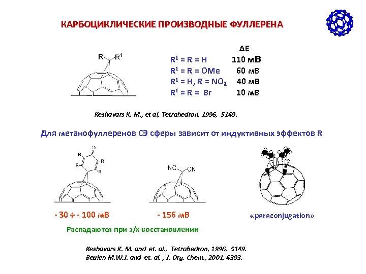 КАРБОЦИКЛИЧЕСКИЕ ПРОИЗВОДНЫЕ ФУЛЛЕРЕНА ΔE R 1 = R = H 110 м. В R