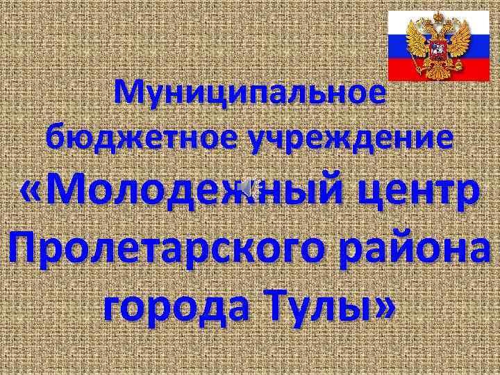 Муниципальное бюджетное учреждение «Молодежный центр Пролетарского района города Тулы»