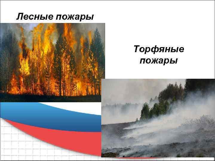 Лесные пожары Торфяные пожары