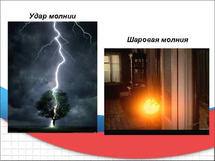 Удар молнии Шаровая молния