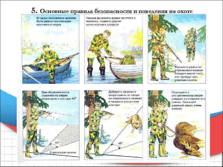 5. Основные правила безопасности и поведения на охоте