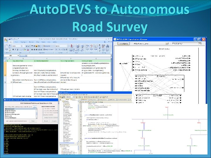 Auto. DEVS to Autonomous Road Survey