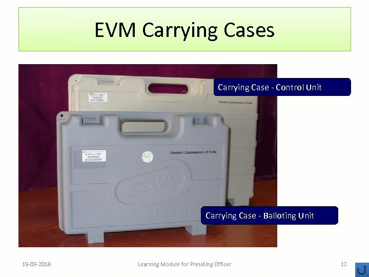 EVM Carrying Cases Carrying Case - Control Unit Carrying Case - Balloting Unit 19