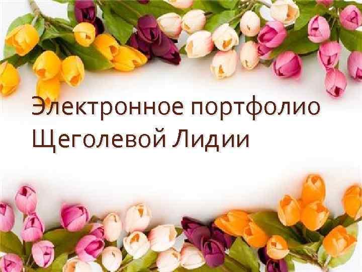 Электронное портфолио Щеголевой Лидии