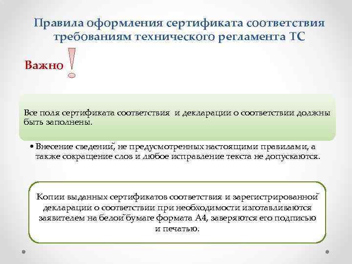 Правила оформления сертификата соответствия требованиям технического регламента ТС Важно Все поля сертификата соответствия и